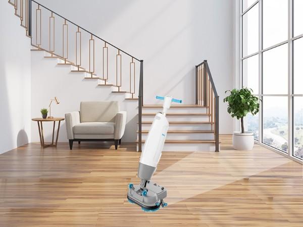 威立洁双刷折叠式迷你洗地机W1